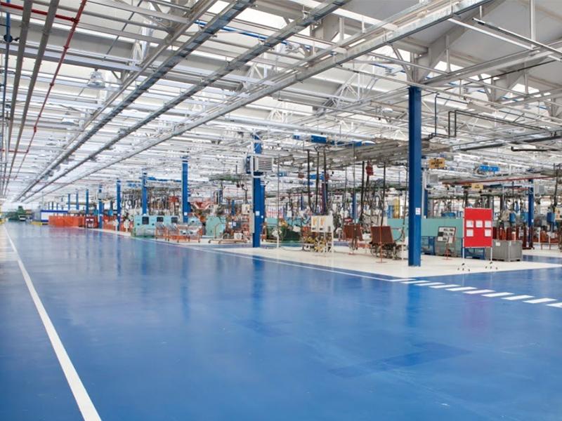 Nettoyage structure d'usine/ Machinerie